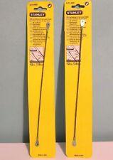 "2 x STANLEY 0-15-402 12"" 30cm carburo grana bacchette."