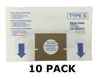 10 ALLERGEN Bags for HOOVER Vacuum Windtunnel, Futura, and Spectrum TYPE-S