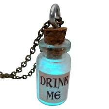 Alice in Wonderland bottle drink me necklace Glow in the dark Fairy Angel dust