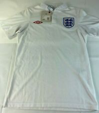 New Umbro England Football SS Shirt White Jersey Home 09/10 Sz 34 Small