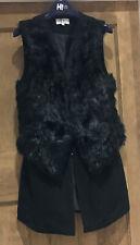 Nine Savannah Miller At Debenhams Faux Fur Black Wool Blend Gillet UK10