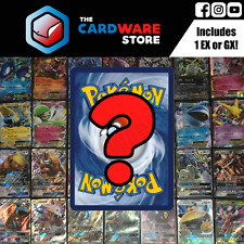 50 Pokemon Cards Bulk Lot   1 EX or GX   2 HOLOS, 3 RARES   Mint Genuine TCG