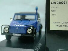 WOW EXTREMELY RARE VW 181 Kubelwagen Soft Top Blue THW 1969 1:43 Minichamps