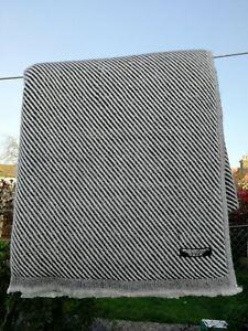 Cashmere Blanket Throw Travel Wrap Handmade NEPAL Home Plain black and white