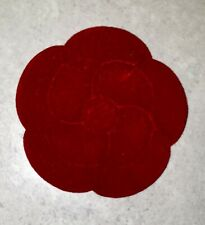 Genuine Chanel Red Camellia Velvet Flower