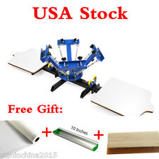 4 Color 2 Station Silk Screen Printing Machine 4-2 Press DIY T-Shirt Print+GIFTS