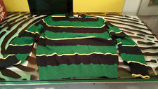 Lacoste Live Mens Long Sleeved Striped Shirt Pixel Elbow Patch Size 4 -  MED US