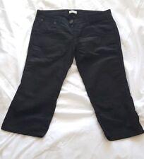 Pinko Woman Pants Short Bermuda Black Jeans IT 28 Size UK 10