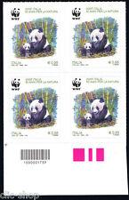 ITALIA UNA QUARTINA WWF NATURA IL PANDA CODICE A BARRE 1739 - 2016 nuovo**