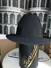 Vintage Borsalino Men's Fedora Hat Made In Italy Size 58 7 1/4