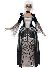 Black Widow Baroness Halloween Horror Gothic Costume Size 16 - 18 P9660
