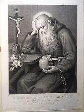 Beato Bernardo da Offida, ASCOLI PICENO. Acquaforte CUNEGO,fra Luigi da Crema