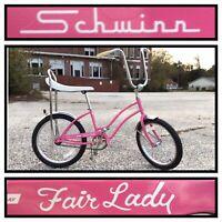 Schwinn Fair Lady 125th Anniversary Pink Dealer Sting Ray Stingray Bike Bicycle