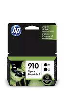 3JB40AN NEW Genuine HP 910 Black Twin Pack Ink Cartridge Factory Sealed 12/22