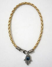 Gold Colour HAMSA KABALLAH Bracelet ~ ~ string jewish kabballah against evil eye