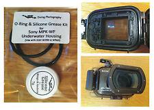 Repuesto Junta tórica y grasa de Silicona Kit Para Sony Mpk-wf Carcasa submarina caso
