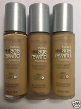 3 X Maybelline Instant Age Rewind Foundation Nude (Light-4) Silver Cap Bottle.