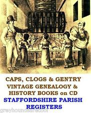 Staffordshire Parish Registers 23 Vintage Books on CD Genealogy Family Tree Gift