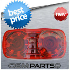 """2"""" x 4"""" LED RED CLEARANCE LIGHT OVAL MARKER TRAILER RV CAMPER SURFACE"""