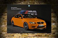 BMW M3 GTS ORANGE 3 SERIES HD POSTER PRINT 24x36in