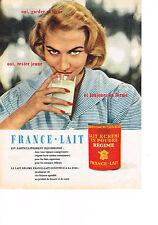 PUBLICITE ADVERTISING  1957   FRANCE-LAIT  lait écrémé en poudre pour  REGIME