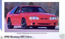 1993 Ford Mustang SVT Cobra 5.0 Liter H.O. Info/Specs/photo/prices 11x8
