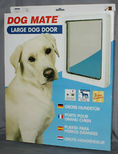 """Dog Mate Large Pet Door 216W for dogs up to 25"""" shoulder - lockable - white -new"""
