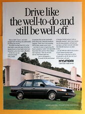 Magazine Print Ad 1988 Hyundai Excel GLS
