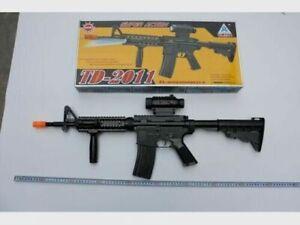 TD-2011 Kids Military Assault Machine Gun Vibration Sound Flashing Light Toy Gun