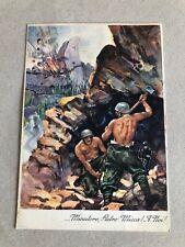 T) Postcard Military Large Format 1 ° Genius Miners 1935 Novi Ligure