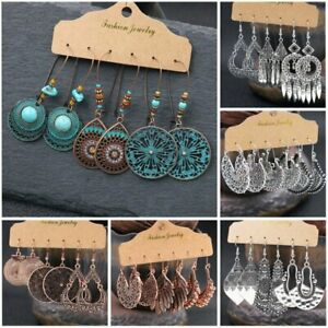 Boho Gypsy Earrings Tribal Ethnic Festival Ear Hook Drop Dangle Women Jewelry