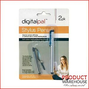 2pk Stylus Pen Touch Screen Silver iPhone iPad Tablet Samsung Android Universal