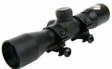 4x32 Compact .22 .223 .177 Rifle Scope Rangefinder Reticle w/FREE Set of Rings