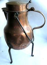 ANCIEN COQUEMART EN CUIVRE 3 PIEDS XIXème COPPER COQUEMAR Coquemar de cobre