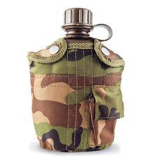Gourde 1L + Housse  étui Camouflage Camping Randonnée Armée
