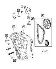Genuine Mopar Engine Timing Cover Package 4897723AA