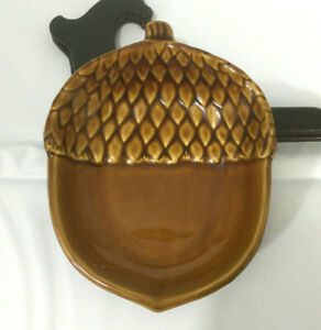 """Pottery Barn Ceramic Fall """"Acorn"""" Dish for Nuts, Candy, Condiments or Jewelry"""