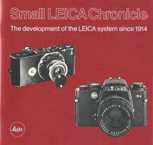 Small Leica Chronicle 1914-1981 Leica Product Development History