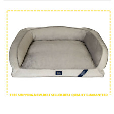 SertaPedic Memory Foam Couch Extra Large Pet Bed Grey 44 Inches Eco Poly New