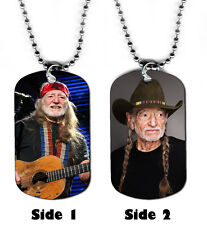 DOG TAG NECKLACE - Willie Nelson 1 Country Music Singer Legend USA Pop