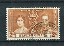 British Guiana KGVI 1937 Coronation 2c 'blocked pearl' SG305var CWS1a used