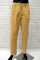 Pantalone Uomo RIFLE Taglia W 38 L 36 Jeans Pants Man Cotone Gamba Dritta Beige