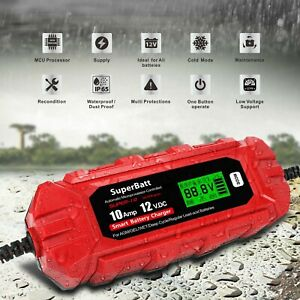 SuperBatt 12V 10A Leisure Marine Battery Charger replace Numax Battery Charger