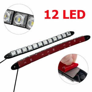 2X 12V 12LED STRIP DRL DAYTIME RUNNING LIGHTS CAR LAMP WHITE DAY DRIVING