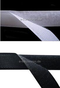 Klettband ZUM AUFNÄHEN 1 2 5 10 25 meter 16 20 25 30 38 50 100 mm Schwarz Weiß