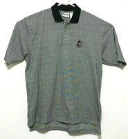 Walt Disney World - Disney Golf men's XL striped gray and black polo shirt