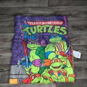 TMNT Sleeping Bag Teenage Mutant Ninja Turtles 1990 Vintage Cartoon Comforter