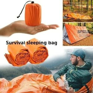 PE Emergency Sleeping Bag Wilderness Camping Outdoor Survival cold weather