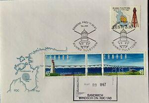 HNLP Hideaki Nakano Estonia Lighthouse Canada Interesting Bridge Stamp