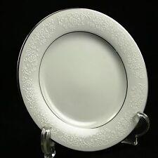 Noritake Tahoe White w/Silver Contempary Fine China 2585 Bread Butter Plate EUC